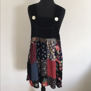 Vintage Patchwork Dress Overall Style Size Medium